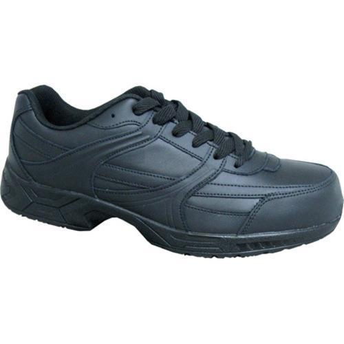 Genuine Grip Footwear Steel Toe Jogger Black Leather