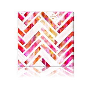 Oliver Gal 'Sugar Flake Herringbone' Fine Art Canvas