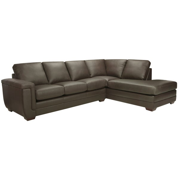 Porsche Chocolate Brown Italian Leather Sectional Sofa - 15444908 ...