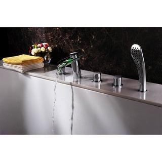 Sumerain Contemporary LED Thermal Waterfall Bathtub Faucet