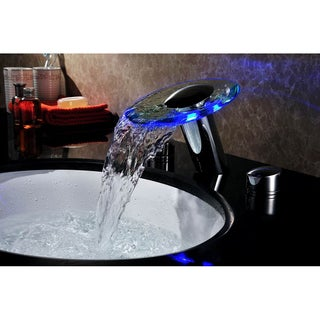 Sumerain Widespread LED Waterfall Basin Faucet