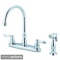 Pioneer Brentwood Series Two-Handle Kitchen Faucet with Sidespray