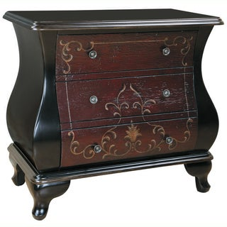 Hand-painted Distressed Espresso Finish Bombay Accent Chest