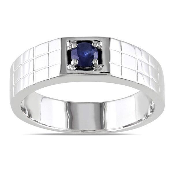 miadora sterling silver s sapphire ring 15444977