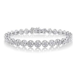Miadora Sterling Silver 1/5ct TDW Diamond Bracelet (H-I, I2-I3)