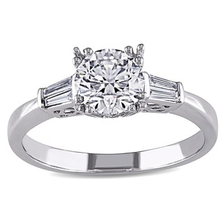Miadora Platinum 1ct TDW Certified Taper Baguette Diamond Ring (F, SI2) (GIA)