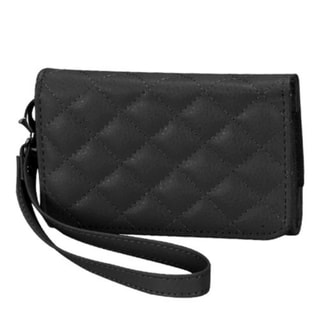 BasAcc Black Quilted MyJacket Wallet Case for Apple iPhone 4/ 4S