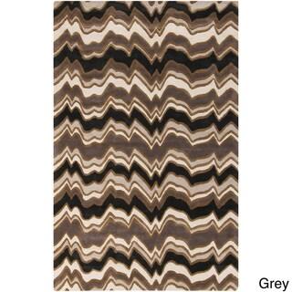 Candice Olson Modern Classics Hand-tufted Contemporary Grey Geometric Rug (9' x 13')
