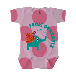 Adorable Girl's Cute Elephant Baby Bodysuit