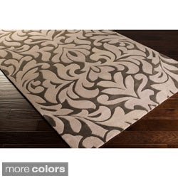 Candice Olson Modern Classics Hand-tufted Contemporary Grey Floral Rug (9' x 13')
