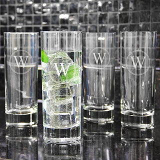 Custom Engraved Tall Mojito Cocktail Glasses (Set of 4)