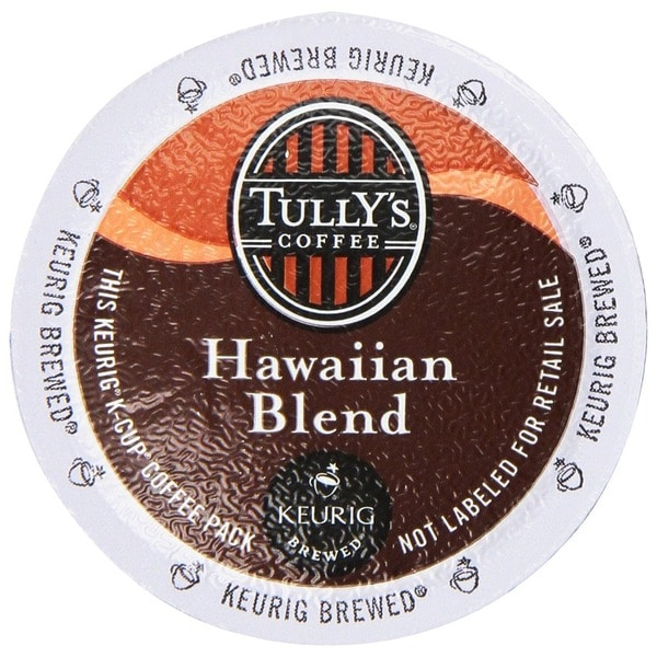 Tully's Coffee Hawaiian Blend K-Cups for Keurig Brewers 18831317