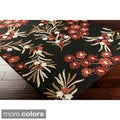 Hand-Hooked Paule Marrot Cannes Floral Indoor/Outdoor Area Rug (8' x 10')