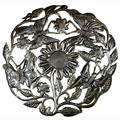 Handcrafted Butterfiles on Plant 24-inch Metal Art (Haiti)