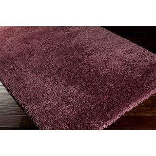 Hand-woven Plush Purple Shag Rug (5' x 7'6)