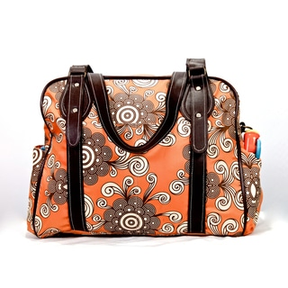House of Botori Ginika Tote Diaper Bag in Twirl Tangerine