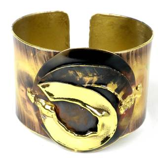 Handcrafted Twisted Ribbon of Brass Cuff (South Africa)