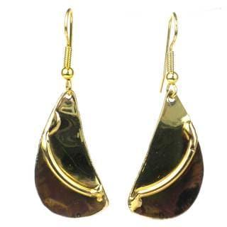 Handmade Brushstroke Brass Earrings (South Africa)