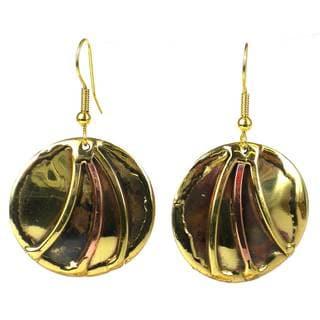 Handmade Brass Sunrays Earrings (South Africa)