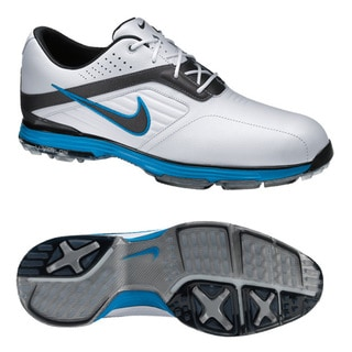 Nike Men's Lunar Prevail White/ Grey/ Blue Golf Shoes