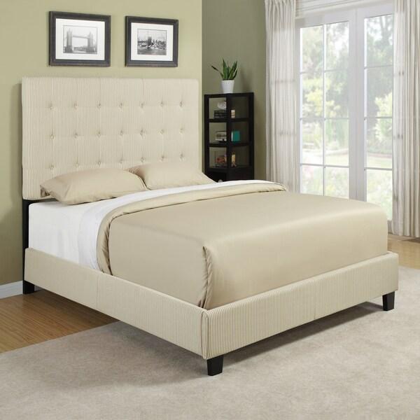 Portfolio Ballard Sand Stripe Queen Size Platform Bed