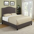 Portfolio Nicci Chocolate Brown Linen Queen Size Platform Bed