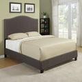 Portfolio Nicci Chocolate Brown Linen Queen Size Platform Bed