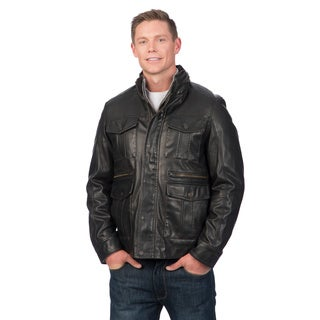 Tommy Hilfiger Men's Black Military Bomber Jacket