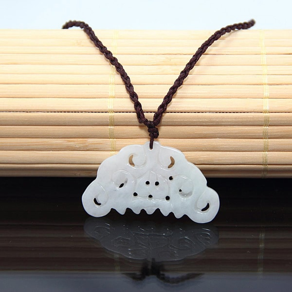 White Jade Butterfly Chinese Knot Necklace (China)