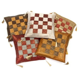 Set of Five Brocade Weave Pillow Cushion Covers (India)