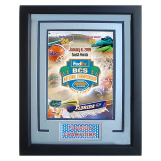 Florida Gators BCS Fedex National Championship Logo Photograph