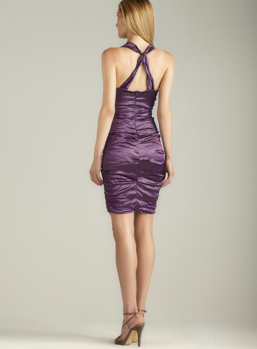 Nicole Miller Ruched Techno Metal Dress Nicole Miller Evening & Formal Dresses