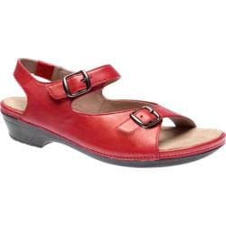 Women's Drew Daphne Red Metallic Leather