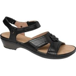 Women's Drew Petal Black Full Grain Leather