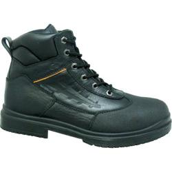 Genuine Grip Footwear Waterproof Steel Toe Black Leather