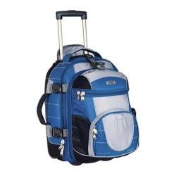 High Sierra Carry-On Wheeled Backpack with Removable Daypack Blue Yonder/Tungsten/Black