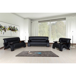 Selina Bonded Leather Modern 3-piece Set