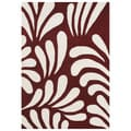 Alliyah 8x10 Handmade Maroon New Zealand Blend Wool Rug