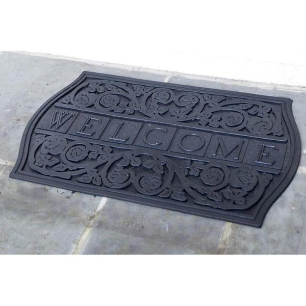 The Plaque Welcome Recycled Rubber Doormat