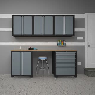 Pro Series Grey 6-Piece Cabinetry Set