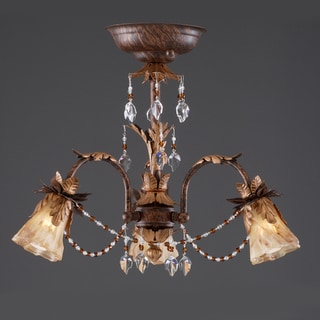 Wilshire 'Sarah' Handmade Glass 3-light Fixture