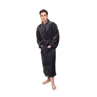 Charcoal Grey Men's Signature Plush Marshmallow Bathrobe