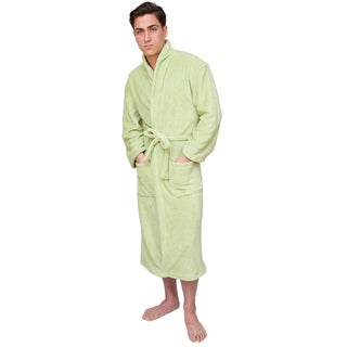 Light Green Men's Signature Plush Bathrobe