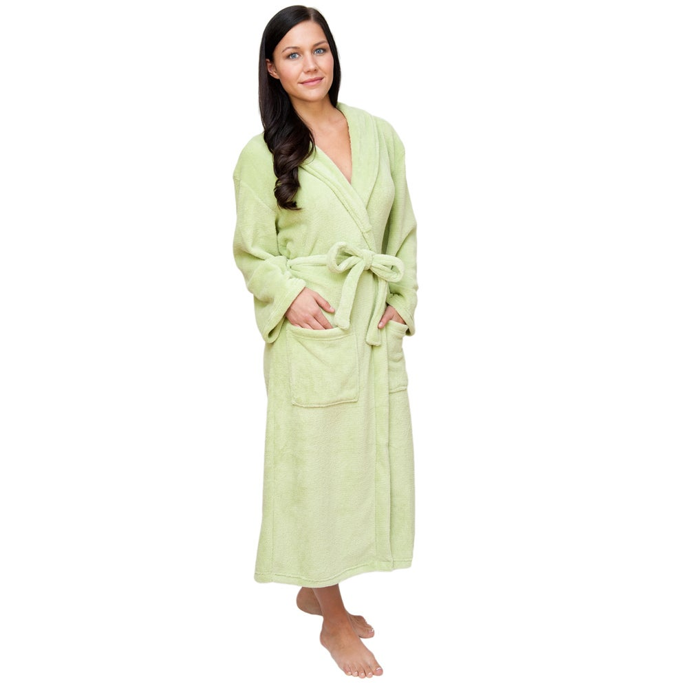 Wrapped In A Cloud Plush Signature Women's Green Marshmallow Robe at Sears.com