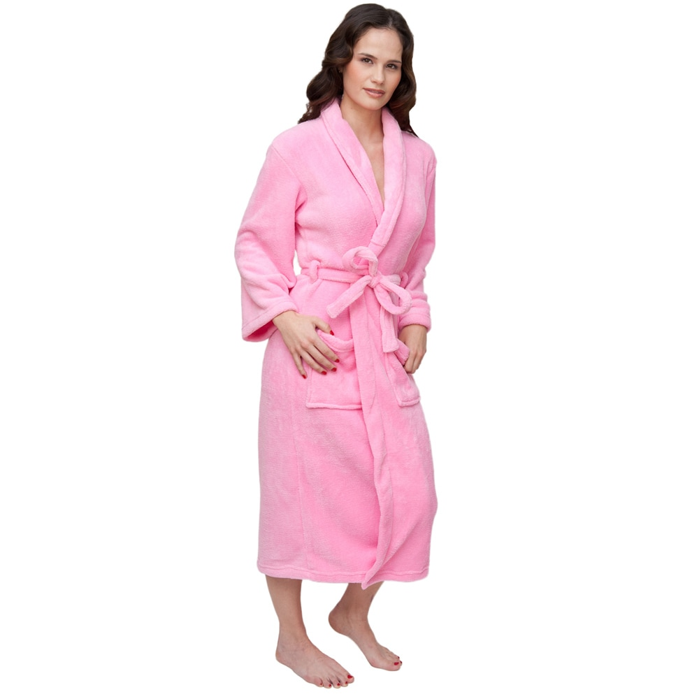 Wrapped In A Cloud Plush Signature Women's Pink Marshmallow Robe at Sears.com