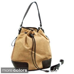 Dasein Soft 2-tone Drawstring Hobo Bag