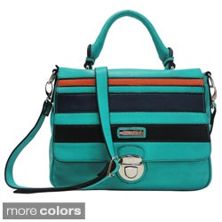 Dasein Multi Block Color Messenger Bag