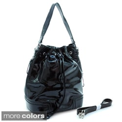 Dasein Shiny Drawstring Shoulder Bag
