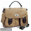 Dasein Two-tone Briefcase Crossbody Bag