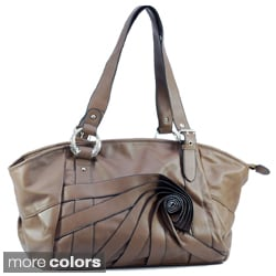 Dasein Front Petal Detail Shoulder Bag